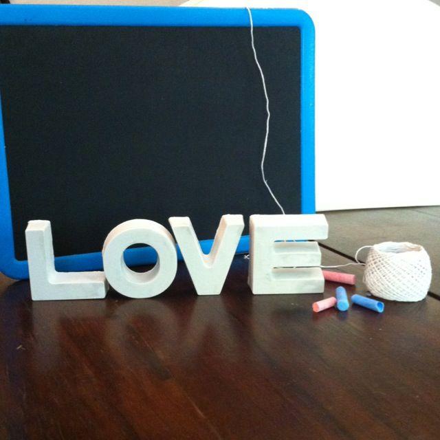 DIY: scritta decorativa in gesso LOVE <3 by paLLina