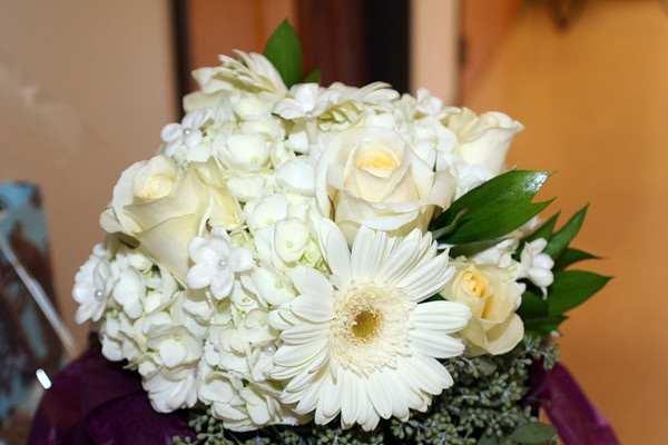 My wedding bouquet. Love the gerber daisy, roses and hydrangea!