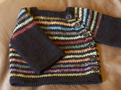 striped  Puerperium Cardigan, in cascade 220 and noro silk garden http://www.yarnharlot.ca/blog/archives/2011/09/09/second_verse_same_as_the_first.html