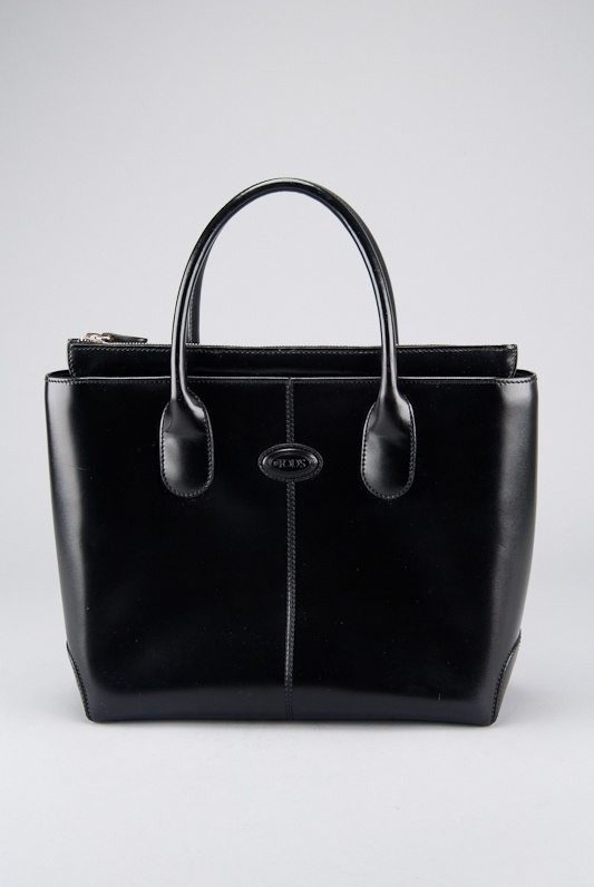 Tod's Black Leather Classic D Bag