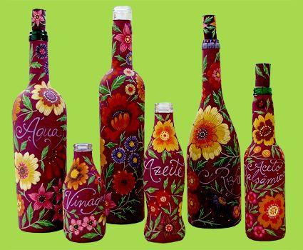 desenhando em garrafas - Pesquisa Google