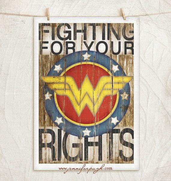 Wonder Woman Art Print by JenniferPughStudios