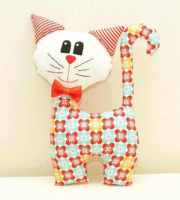 Cat pdf pattern. Children room decoration.