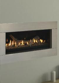 Love!!!!  Monessen Contemporary Stainless Steel Fireplace Face - For Serenade Wide View Direct Vent Fireplaces