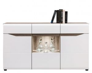LI4 LIONEL BOGFRAN sideboard. Spacious and extremely showy 3-door sideboard.High Gloss finish fronts.Hinges with integrated dampers ensure the doors close slowly, silently and softly. Polish Bogfran Modern Furniture Store in London, United Kingdom #furniture #polish #bogfran #dresser #cabinet