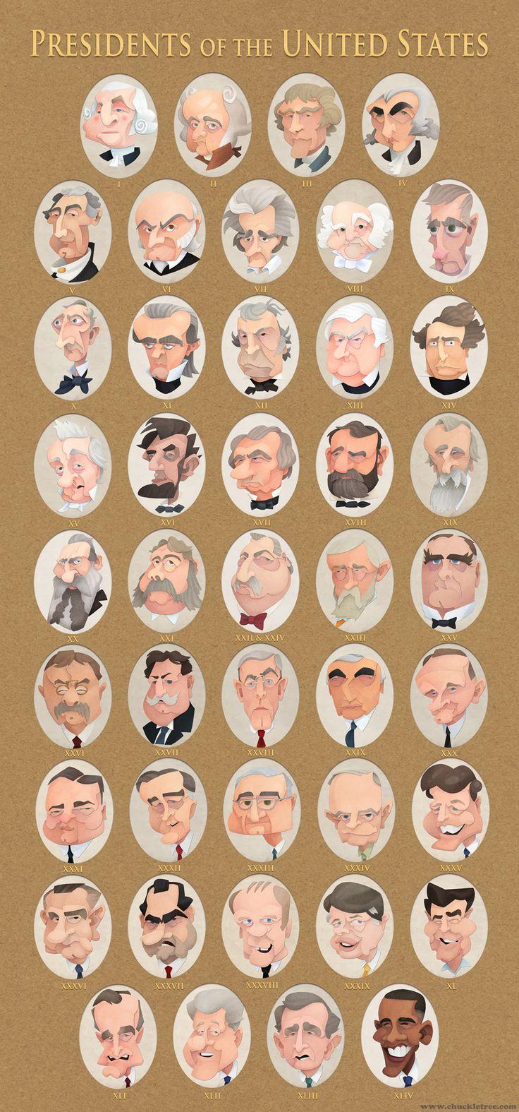 Presidential Portraits by WonderDookie.deviantart.com on @deviantART