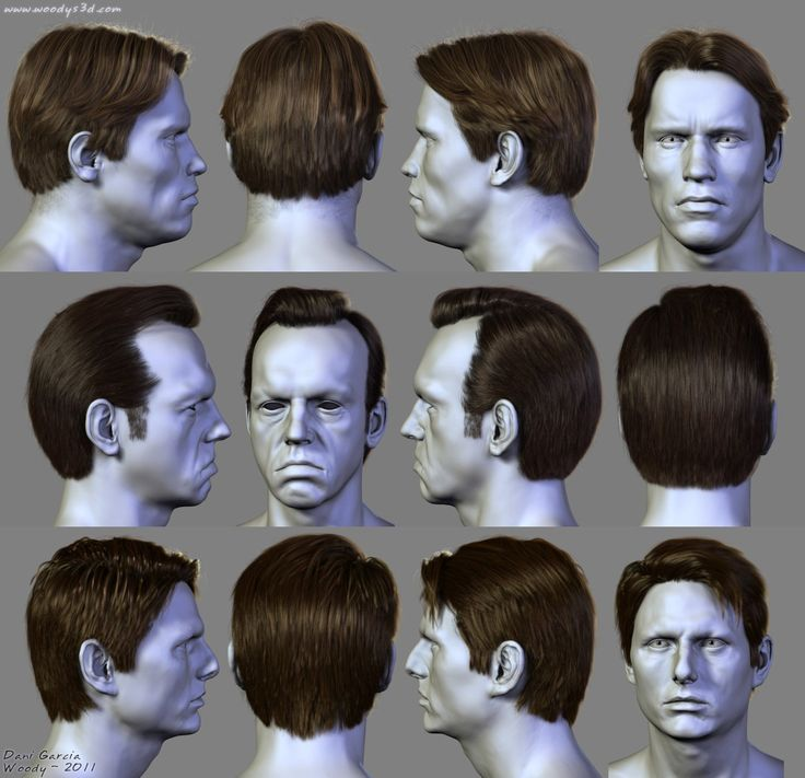 Some hairstyles I did on commision, using hair-farm. The heads are not mine, they were done by Lee Perry-Smith (Infinite).