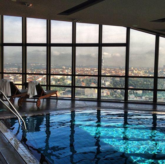 A Pool with a view, Corinthia Hotel Prague