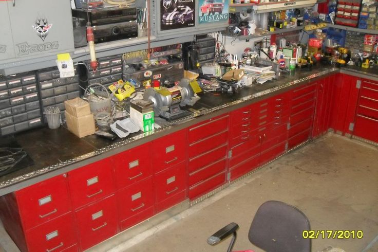 great used of old filing cabinets for my garage