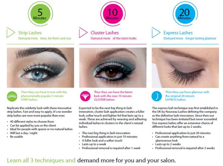 Nouveau Lashes Let's Go Lashes training courses  http://www.beautyguild.com/news.asp?article=2503
