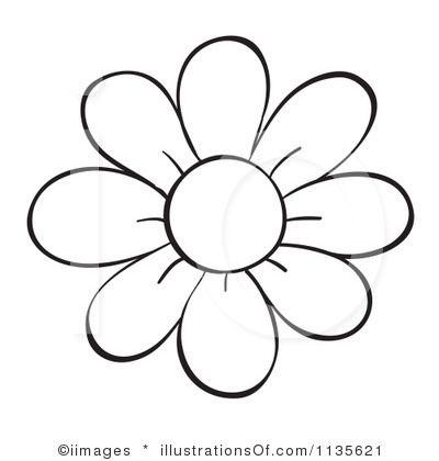 flower outline printable