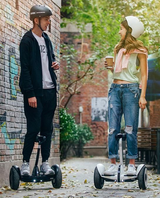 Ninebot mini is a self-balancing scooter with a knee-high steering bar
