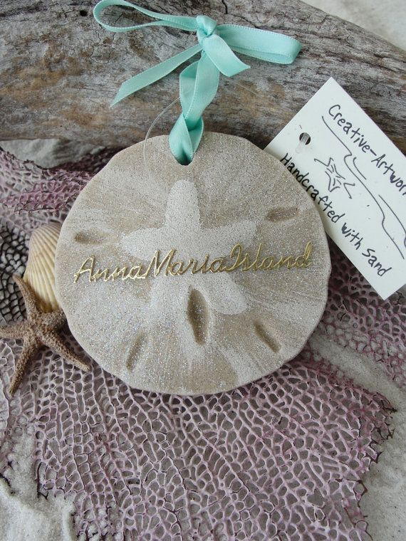 SAND DOLLAR Sand Ornament FAVORS Beach Wedding by TheSandStore