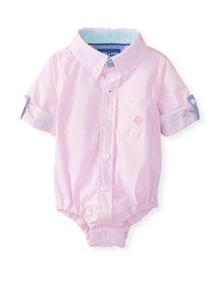 61% OFF Andy & Evan Baby Boy's Checkmate Shirtzie (Pink Mini Check)
