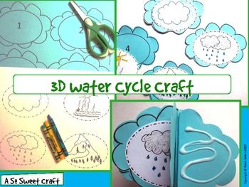 Water Cycle Craft: {3-D Water Cycle Craftivity} - Robin Sellers - TeachersPayTeachers.com