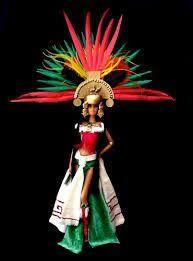 Resultado de imagen para atuendo verde de danza azteca