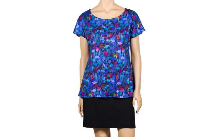 Camiseta estampada con flores azules #Print #Schirt #InstintoBcn
