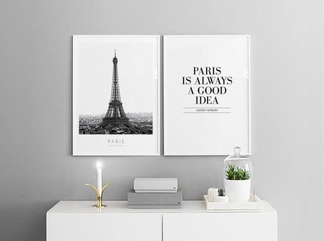 Stilvolle Poster über dem Bett oder Sofa. Plakate in Paaren.