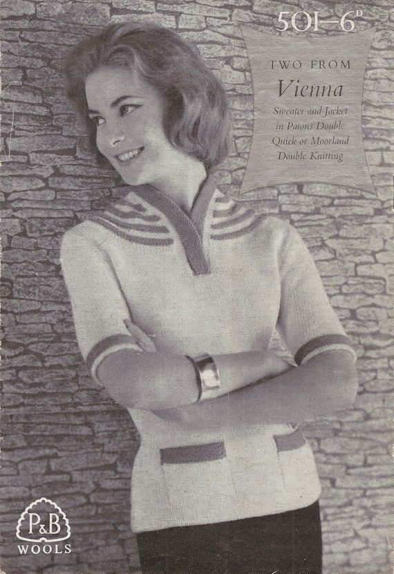This is a PDF download of an original 1940s / 1950s knitting Pattern.