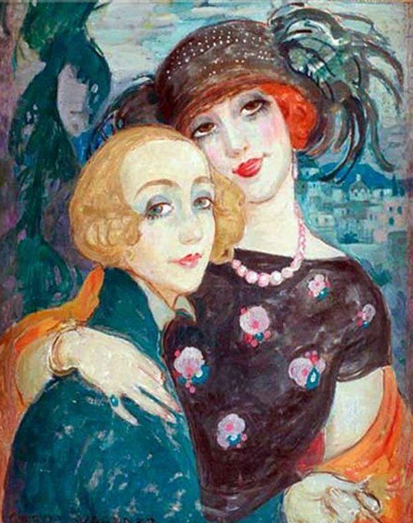 Gerda Wegener Zwei Freunde Lili Elbe The Danish Girl Art