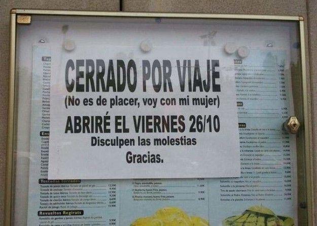 """Este cartel que parece escrito por Jorge Cremades.   27 carteles que los ves y dices """"eso es España fijo"""""""