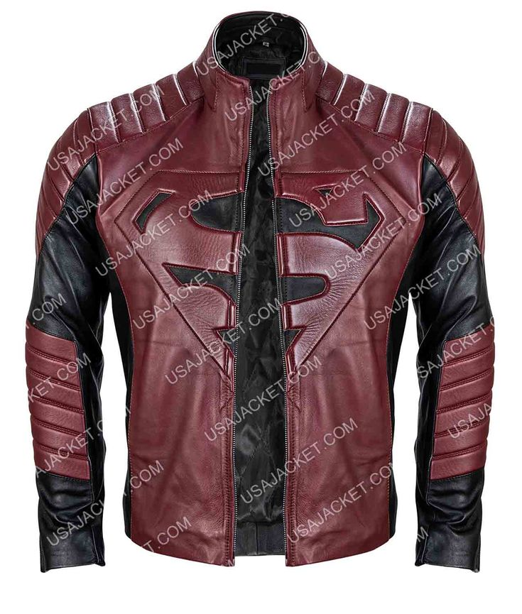 Superman Smallville Black And Maroon Jacket Maroon