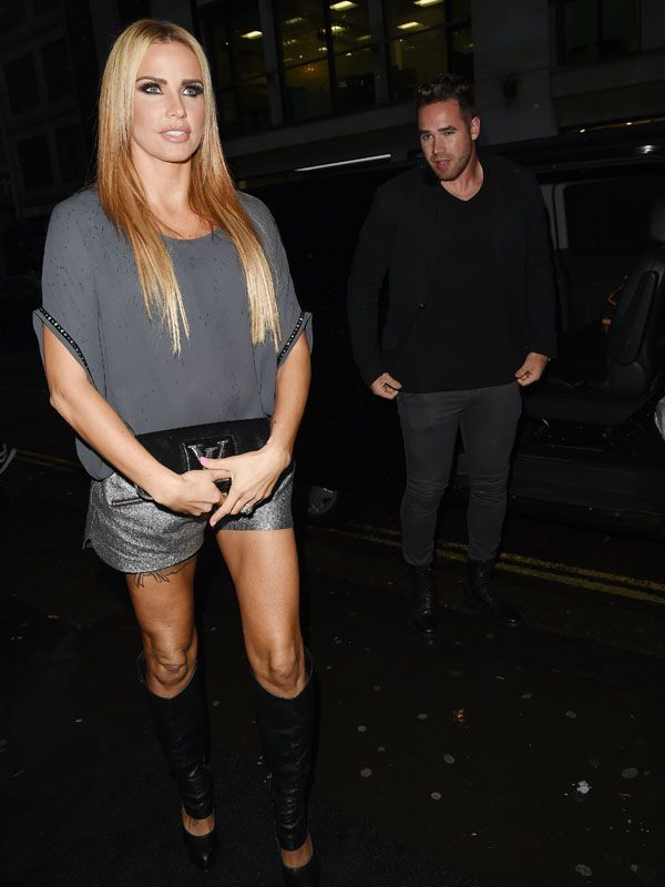 Katie Price arriving at the launch party of Gary Cockerill's book 'Gary Cockerill: Simply Glamorous' in London