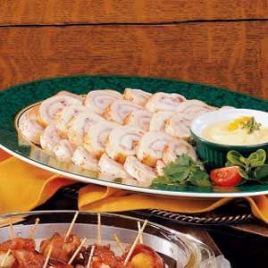 Chicken Ham Pinwheels Recipe   Taste of Home Recipes