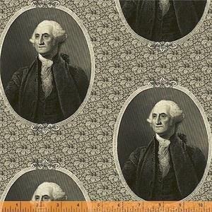 George Washington c. 1810 cameos fabric design.
