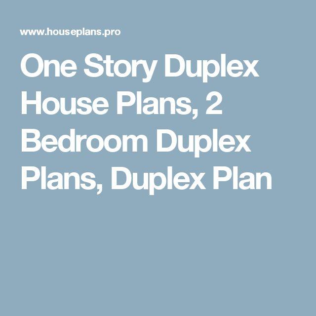 One Story Duplex House Plans, 2 Bedroom Duplex Plans, Duplex Plan