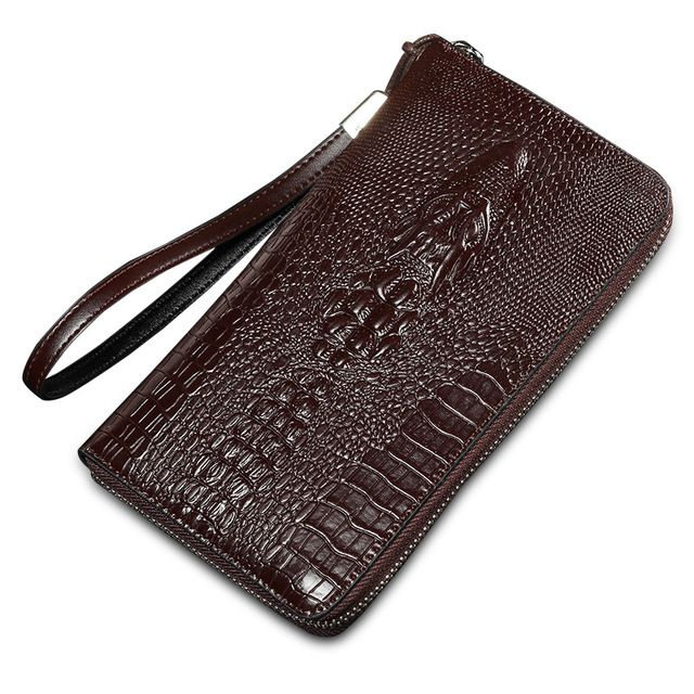 Fair price 2016 alligator top cow genuine leather wallets for men Crocodile pattern purse Exquisite fashion design clutch wallet just only $13.40 with free shipping worldwide  #walletsformen Plese click on picture to see our special price for you