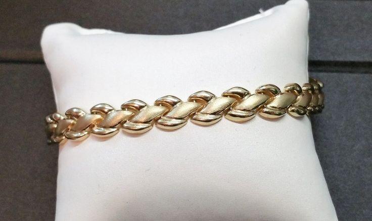 Vintage Armschmuck - Armband Gliederarmband Gold 585 Design edel GA103 - ein Designerstück von Atelier-Regina bei DaWanda