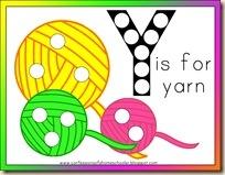 Y is for Yarn Printables