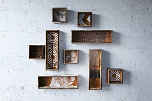 Reclaimed shadow boxes  http://bonnieandneil.com.au/products/winter-2012/w12-shadow-boxes/