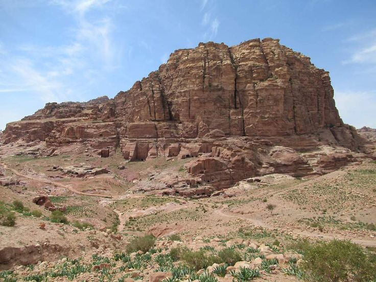 In the 12th century a small Crusader Castle was built on Jebal al-Habis behind the ancient Nabataean city of Petra, Jordan. Not a lot remains today.