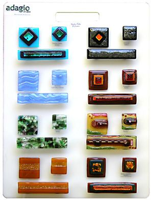 Adagio fused glass knobs & pulls