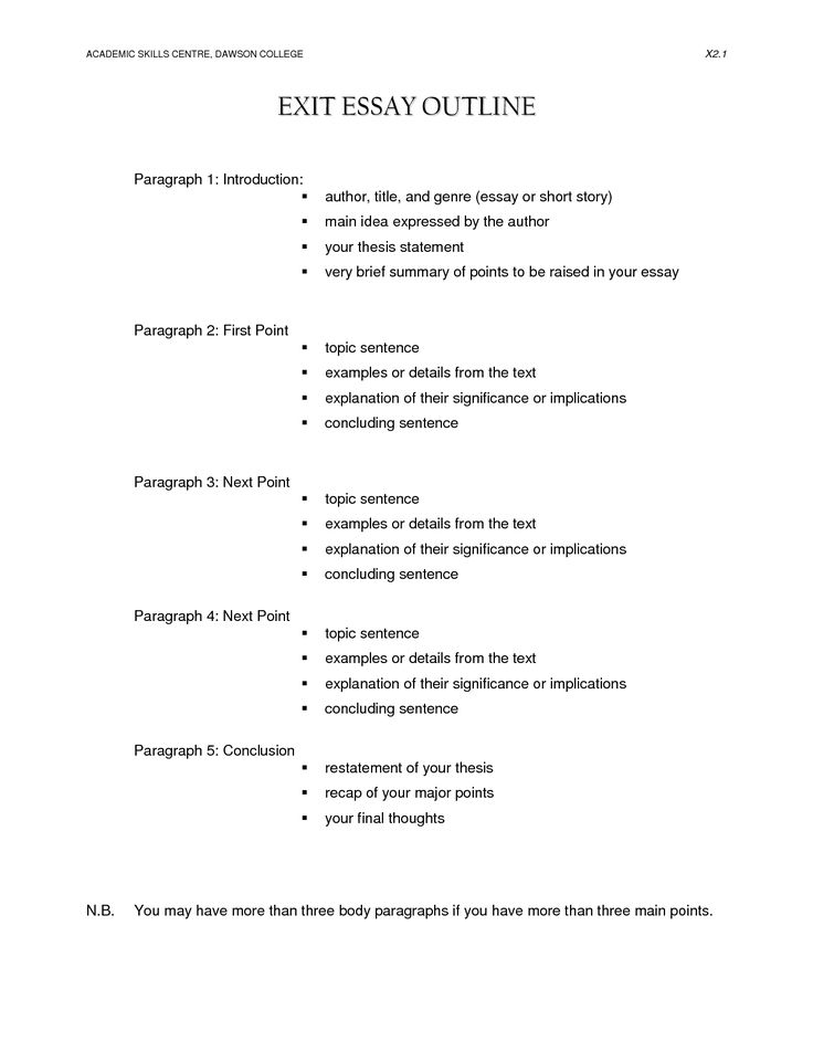 best 25 outline format ideas on pinterest example of an outline paper outline and apa outline - Brief Essay Format