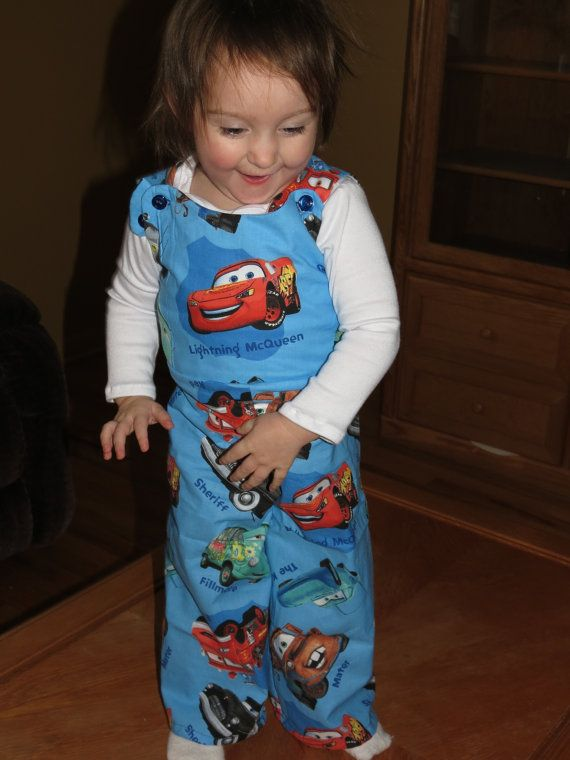 Disney's Cars Overalls  by myfunclothes on Etsy, $24.00