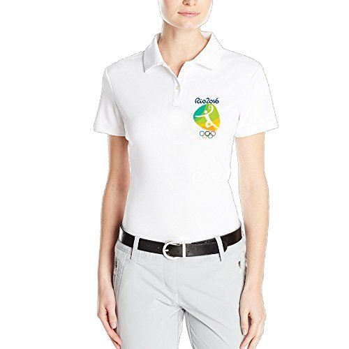 OKGOO Womens Handball Logo Rio Olympics 2016 Polo Shirt -- Want to know more, click on the image.