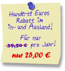Aktion - Rabatt - Gutschein Europavorteilkarte | my-Vorteile