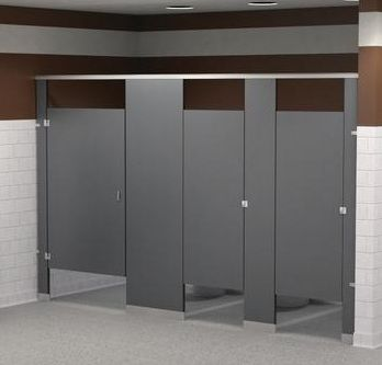 Amazing Solid Plastic Floor Mounted Overhead Braced Partitions Commercial Bathroom  Partitions Are An Important Component Of A Multi Person Restroom,
