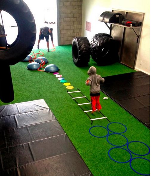The #BOSU is great for children's obstacle courses! #bosufitness #kids #brainfitness @NeurofitSystems