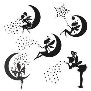 Fairy Pixie Dust From the Moon Cuttable Design Cut File. Vector, Clipart, Digital Scrapbooking Download, Available in JPEG, PDF, EPS, DXF and SVG. Works with Cricut, Design Space, Sure Cuts A Lot, Make the Cut!, Inkscape, CorelDraw, Adobe Illustrator, Silhouette Cameo, Brother ScanNCut and other compatible software.