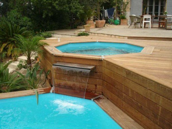 17 best ideas about piscine hors sol on pinterest raised - Jacuzzi exterieur semi enterre ...