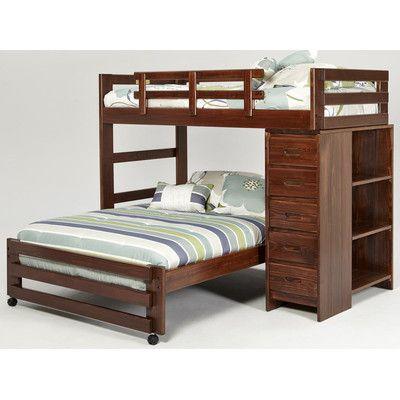 twin over full l shaped bunk bed wayfair 78 h x 62 - Hausgemachte Etagenbetten Fr Mdchen