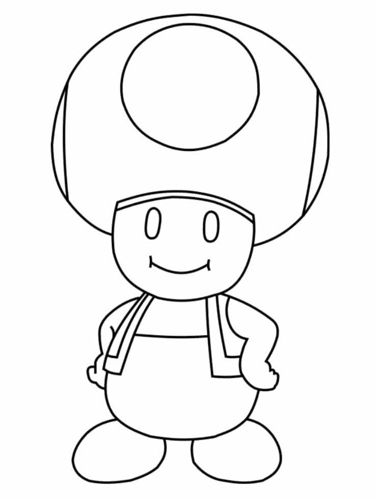 Coloriage Mario à imprimer des dessins gratuits du jeu vidéo en 2020 | Coloriage mario ...