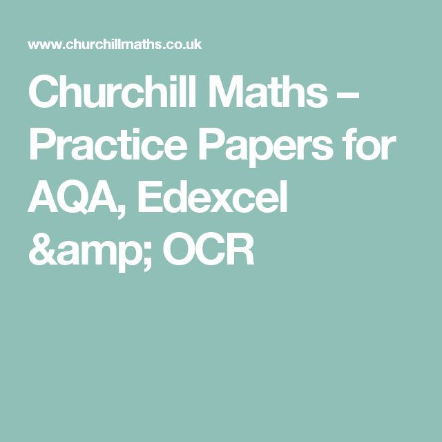 Churchill Maths – Practice Papers for AQA, Edexcel & OCR