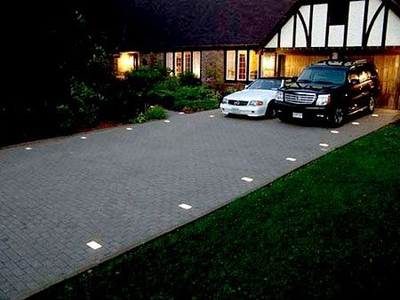 Driveway lights driveway entry pinterest driveway for How to install driveway lights