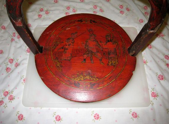 SALE  1840s Large Hand Carved Chinese Rosewood Wedding Basket by @CookieGrandma60, $239.00