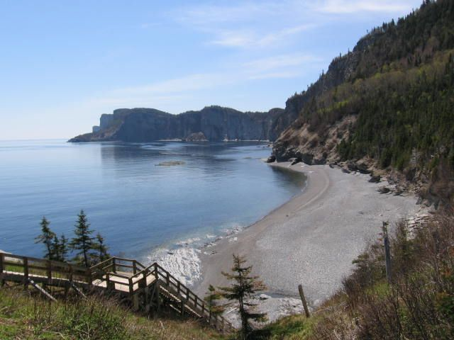 Parc national Forillon, Cap Bon Ami. Photo : Tourisme Gaspésie.